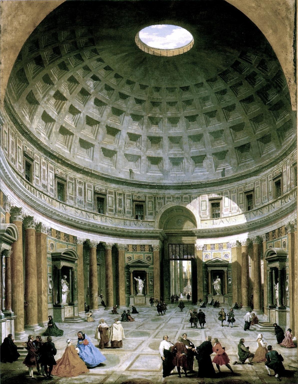 Pan archeologia natura territorio scoprire il pantheon e for Esterno pantheon
