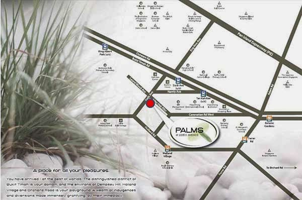 Palms @ Sixth Avenue Location Map