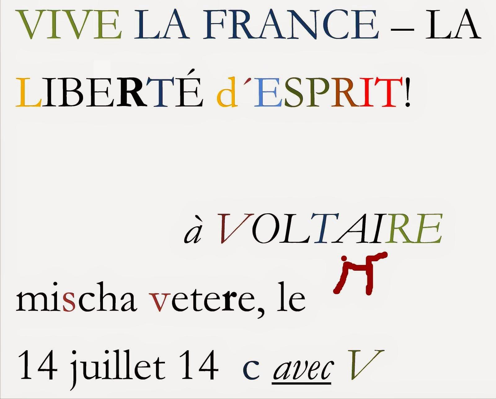 LA RÉVOLUTION MENTALE mischa vetere, le 14 juillet 1791