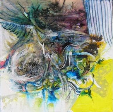 Titolo: PASSAGGIO ,,,OLTRE ! opera a tecnica mista  su Tela 150x150  anno 2007 — del grande Artista