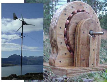 turbina eolica madera casera