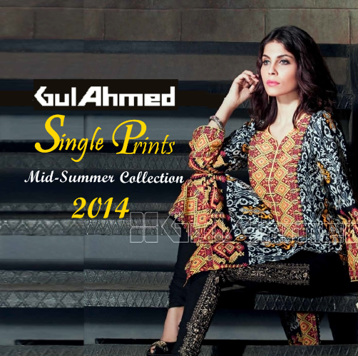 Gul Ahmed Single Prints 2014