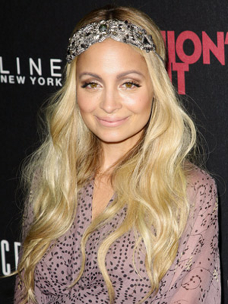 Nicole Richie Round Face Shape Hairstyles