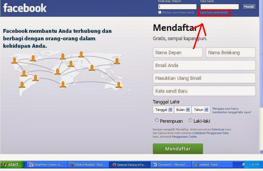 Login Facebook Tanpa password / Lupa Kata Sandi