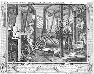 Industry and Idleness, The 12 plates of Industry and Idleness (1747) contrast the behaviour and fate of the two apprentices shown in the first plate. The series was published with the specific intention of instructing youth.