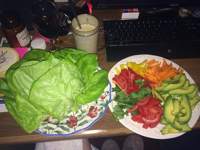 butter lettuce, vegan, paleo, avocado, citrus hemp seed dressing