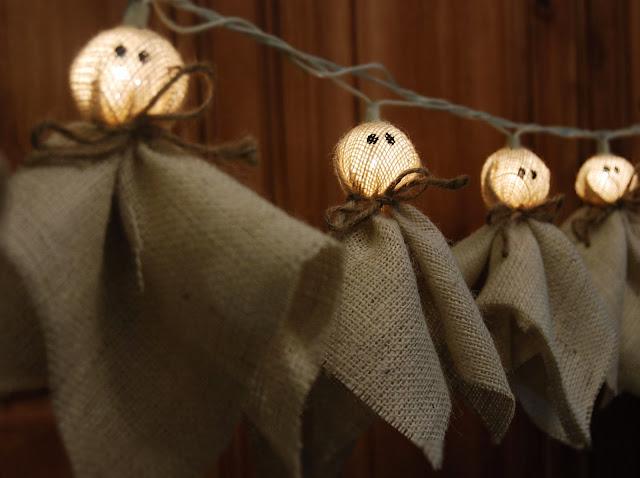 halloween fiesta iluminación decoración DIY handmade fantasmas manualidades