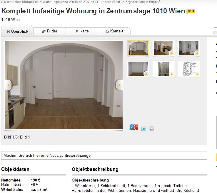 komplett hofseitige wohnung in zentrumslage 1010 wien. Black Bedroom Furniture Sets. Home Design Ideas