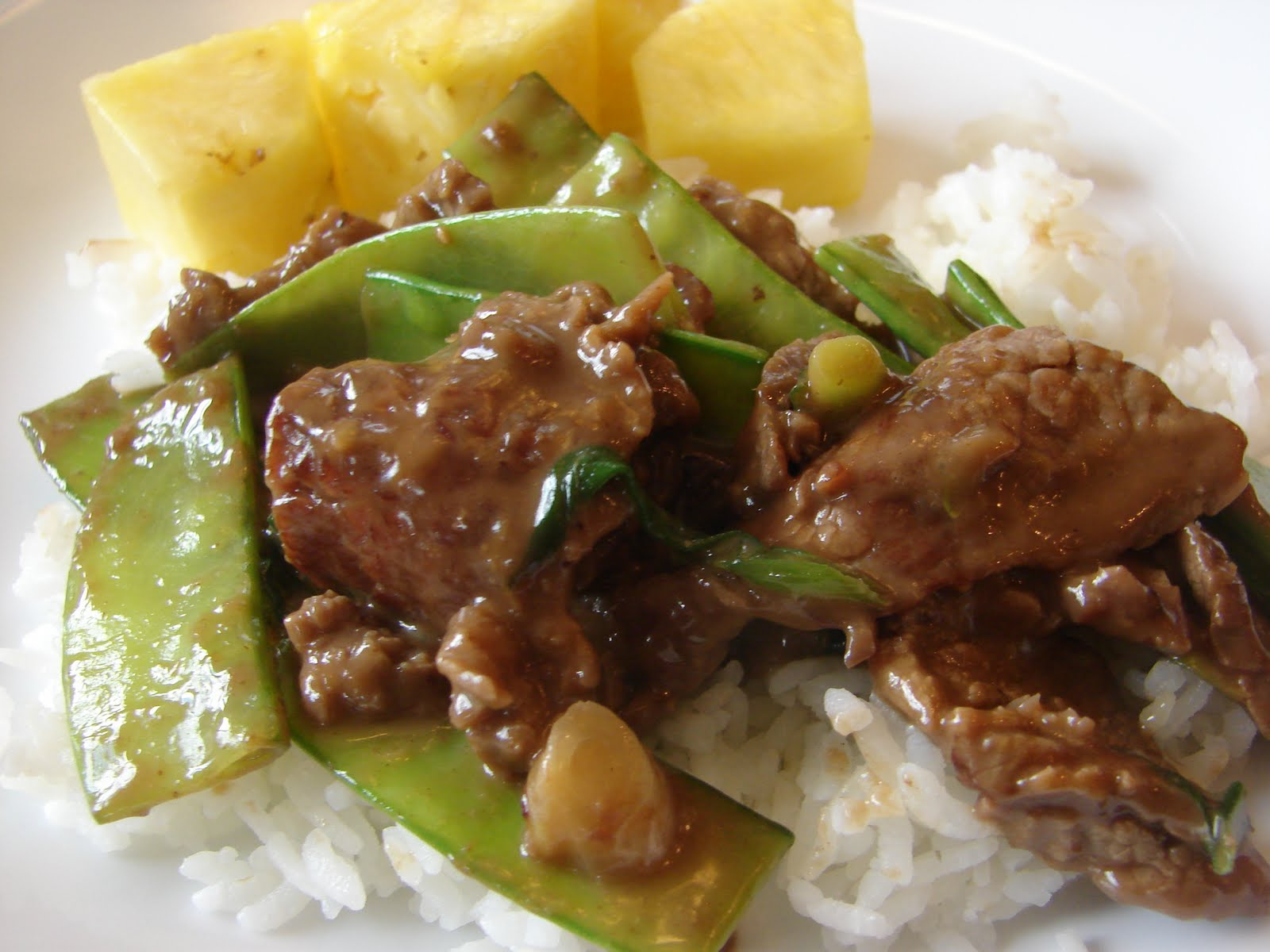 Bear in the Kitchen: Beef with Snow Peas