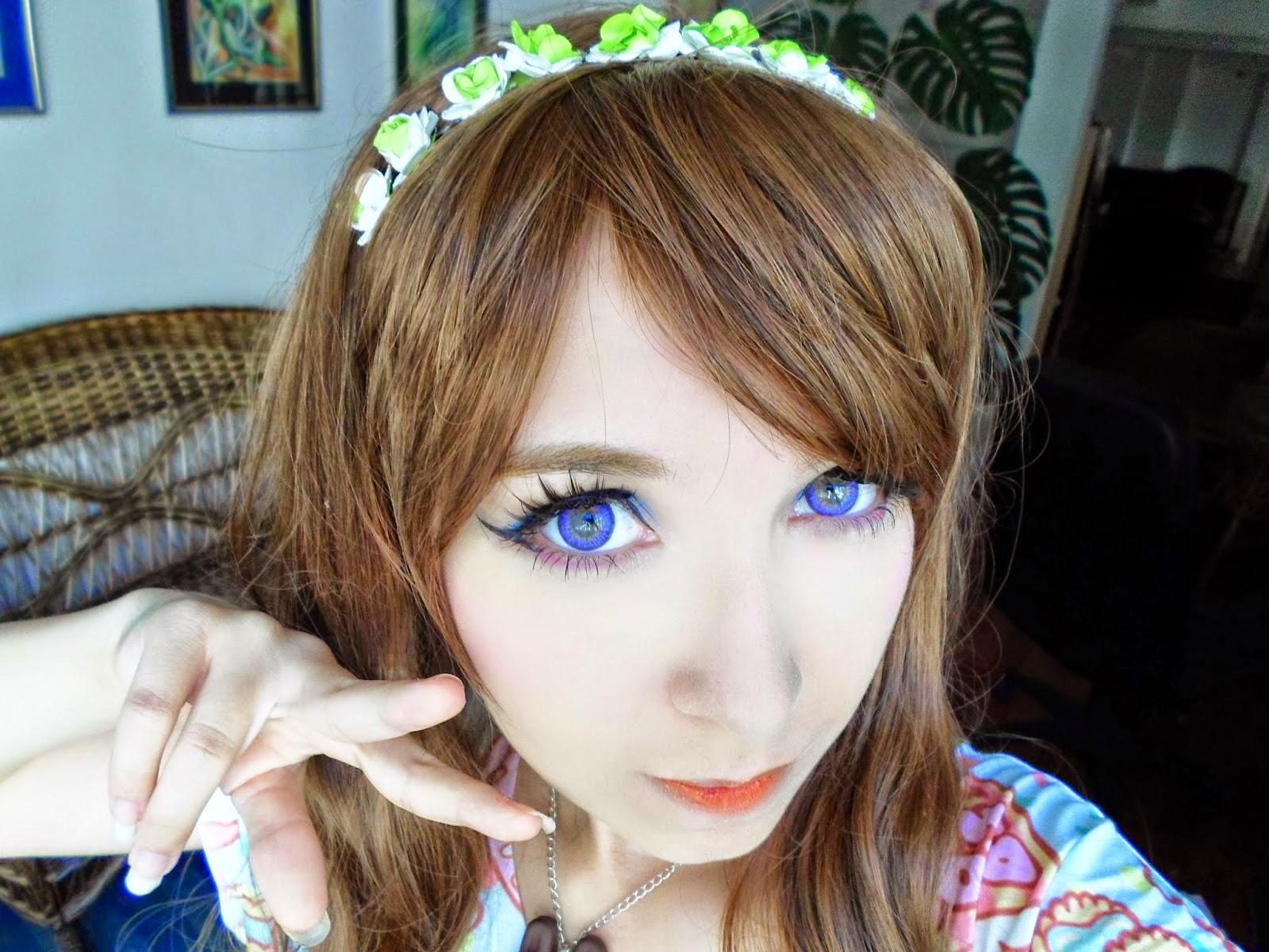 Violet Circle Lenses for Light Eyes: Dolly Eye Puffy 3 tones