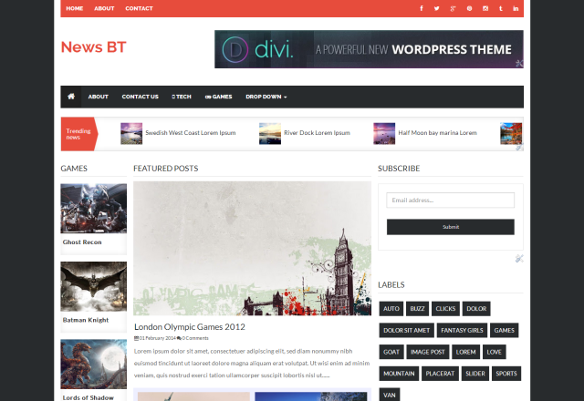 Responsive News Blogger template