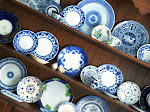 Blue and White Hutch