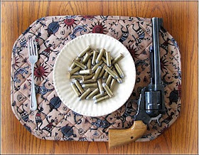 Cowboys, check your pistols at the table.  It's Supper Time.