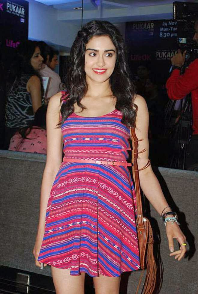 Adah Sharma Photo In Short Mini Dress