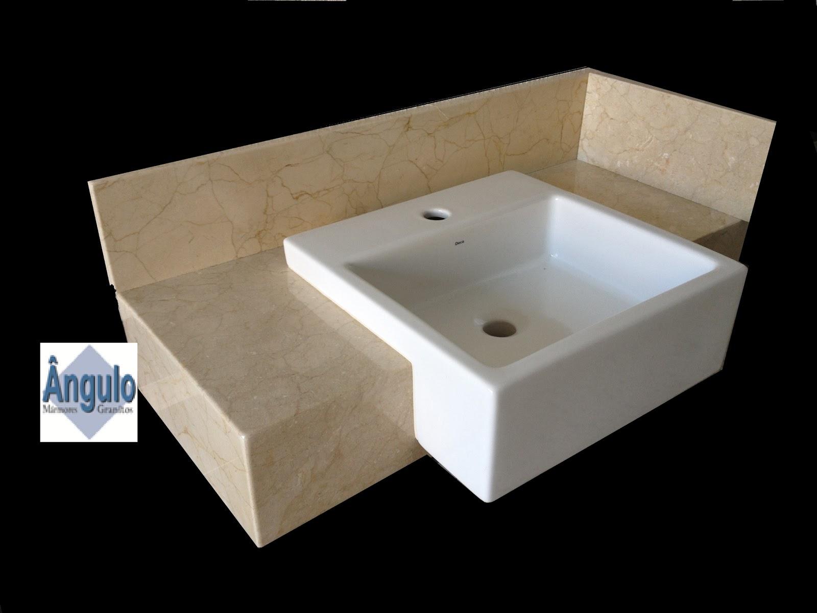 Material importado e testeira colada em 45º #010000 1600x1200 Bancada P Banheiro