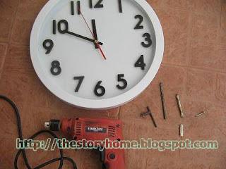 เครื่องมือสำหรับติดตั้งนาฬิกาแขวนผนัง