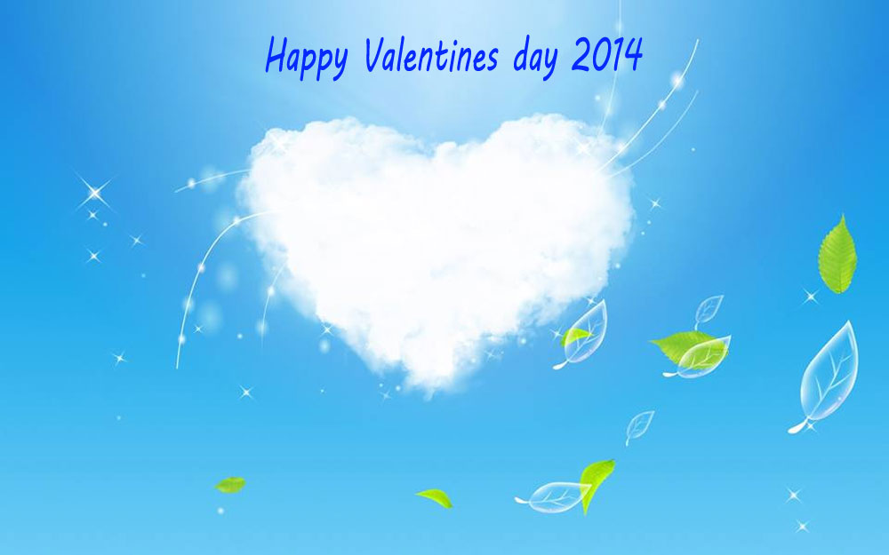 New white clouds Velantine's Day Wallpaper 2014