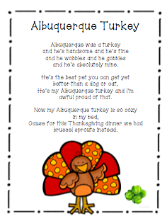 The Very Busy Classroom: Another Turkey Poem