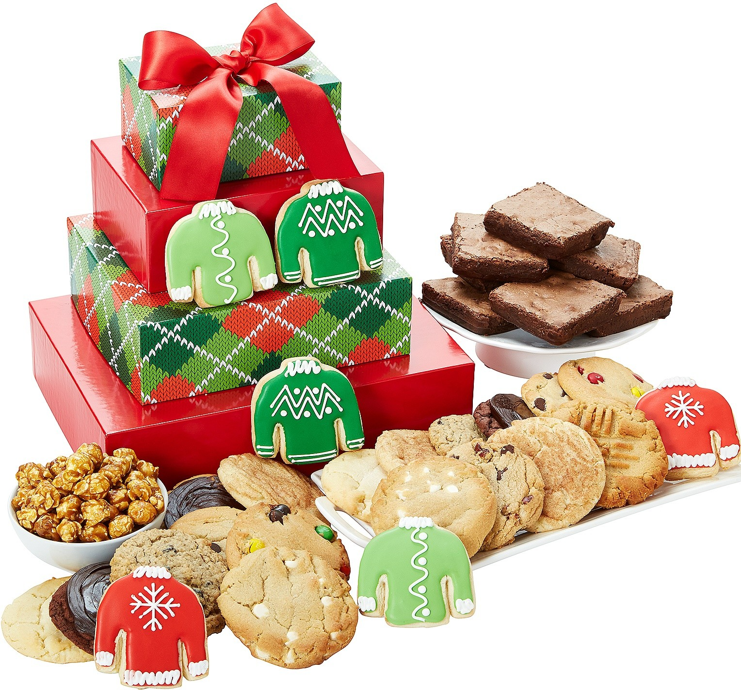 CHRISTMAS COOKIE GIFT TOWERS