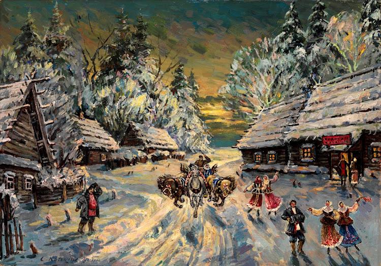 Konstantin Alekseyevich Korovin (1861-1939) - Russian winter