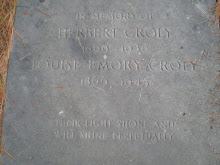 THE GRAVE OF HERBERT D. CROLY