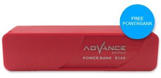 Advan S50G bonus Powerbank