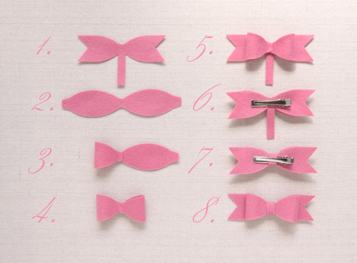 How to make a felt die cut bow // Benzie
