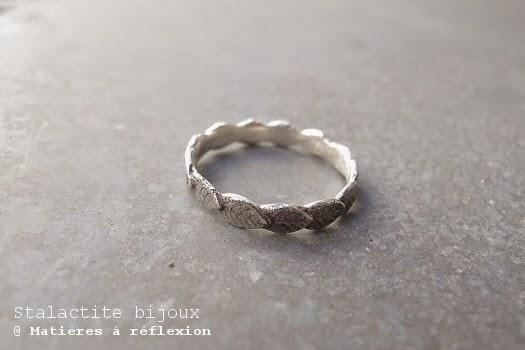 Bague feuille en argent Stalactite bijoux