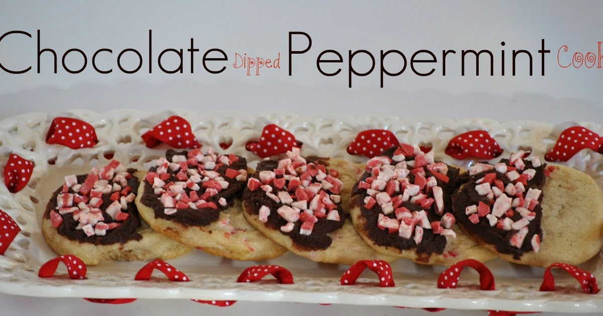 The Farm Girl Recipes: Chocolate Dipped Peppermint Cookies
