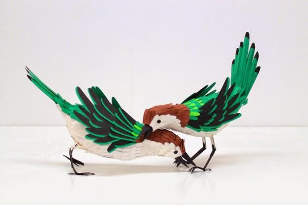 Luar Biasa Hewan-Hewan Yang di Bentuk Dari Paper Art dan Paper Craft
