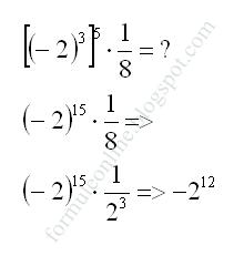 puteri cu exponent intreg exercitiu rezolvat 9