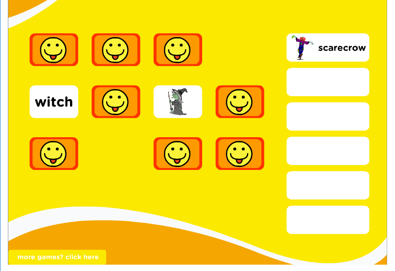 http://www.kidslearningville.com/halloween-costumes-esl-vocabulary-memory-game/