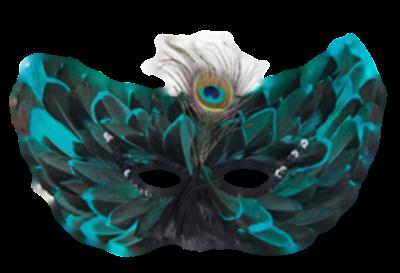 Máscara Carnaval PNG - Pavão