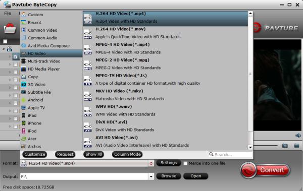 Plex Media Server video format