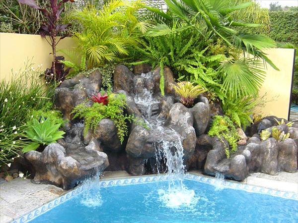 Arte y jardiner a cascadas construcci n de una cascada for Cascadas artificiales modernas
