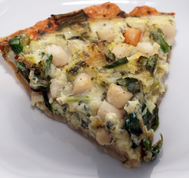 ... by Rachel Rappaport: Ramps & Bay Scallop Quiche with a Gruyère Crust