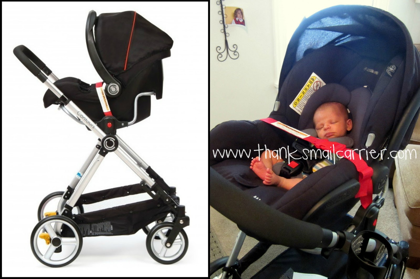 Bliss car seat attachment Thanks, Mail Carrier | Contours 4-in-1 Stroller System {Review