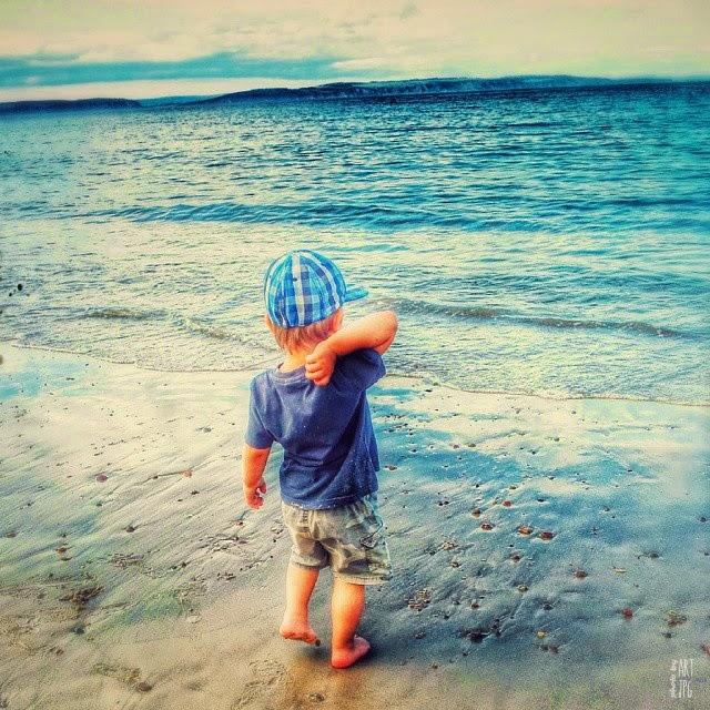 morze , dziecko