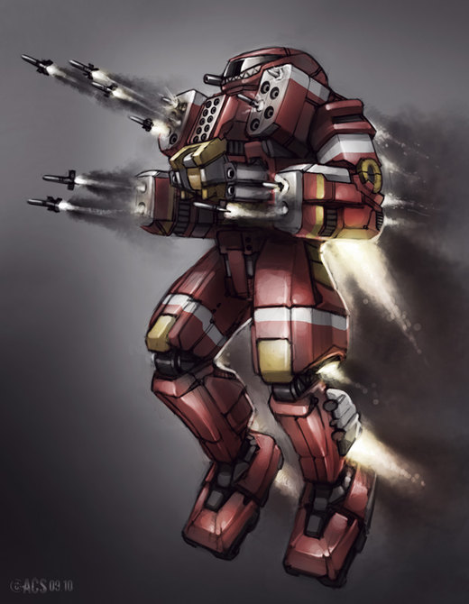 Mech Warrior - Dervish por Shimmering-Sword