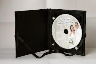 Estuche para DVD SPiel Negro abierto