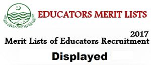 Educators Merit List