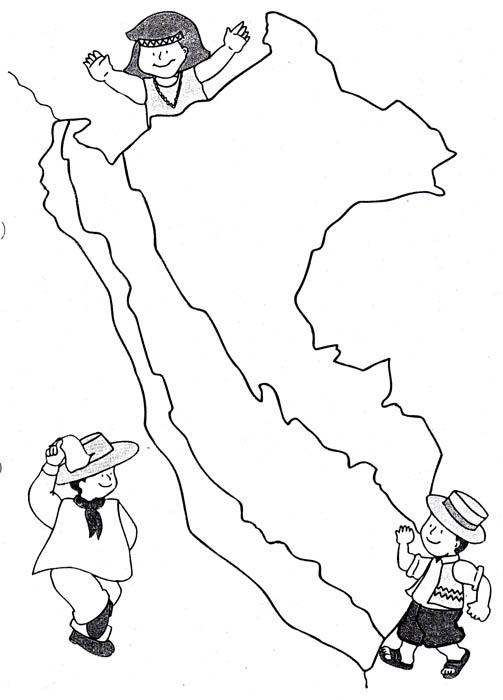 Mapa del Perú y sus regiones para colorear - Imagui