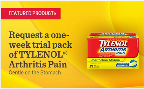 Tylenol Arthritis Pain Free Trial Sample Pack