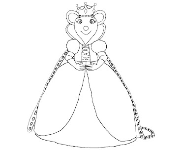 #3 Angelina Ballerina Coloring Page
