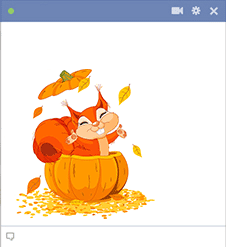Pumpkin Squirrel Sticker