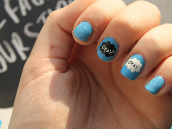 The Fault in Our Stars Nail-art.