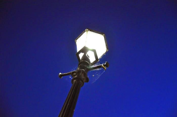 Hamburg old lamp post