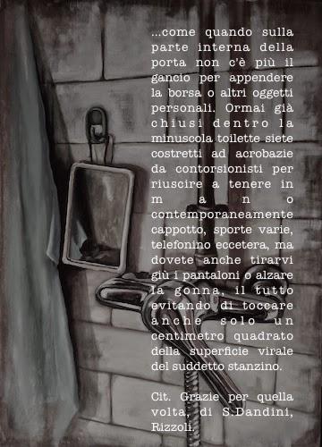 citazione di Serena Dandini su quadro rielaborato di Monica Spicciani