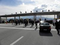 Διαμαρτυρία στη Γέφυρα για τα διόδια