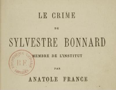 Le crime de Sylvestre Bonnard membre de l'Institut